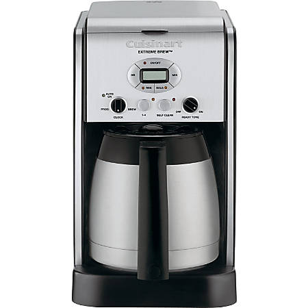 Cuisinart Extreme Brew DCC-2750 Brewer - Programmable - 10 Cup(s) - Multi-serve - Coffee Strength Setting - Silver - Stainless Steel, Charcoal, ABS Plastic