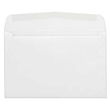 "Quality Park® Invitation And Greeting Card Envelopes, 5 3/4"" x 8 3/4"", White, Box Of 100"