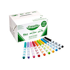 Crayola Fabric Markers Classpack Assorted Colors