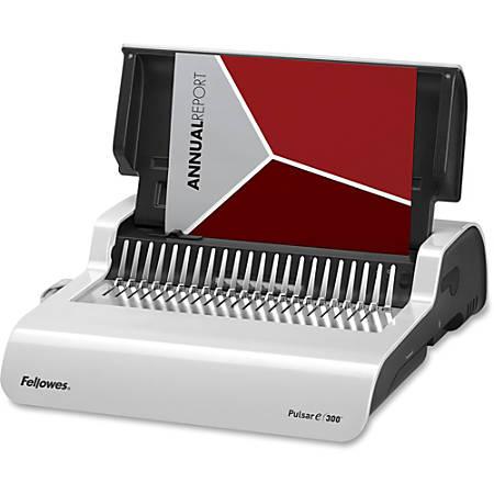 Fellowes® Pulsar Comb Manual Binding Machine With Starter Kit, White/Black