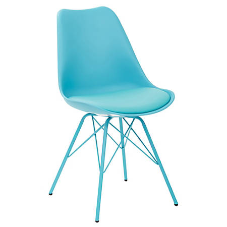 Ave Six Emerson Student Side Chair, Teal