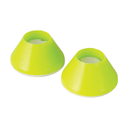 "HealthSmart® Walker Coaster Glides, 2 3/8"", Green, Pack Of 2"