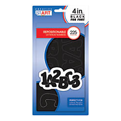 Creative Start Vinyl Peel Stick Letters And Numbers 4