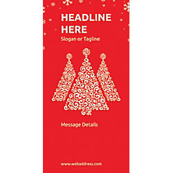 Custom Vertical Display Banner Red Christmas