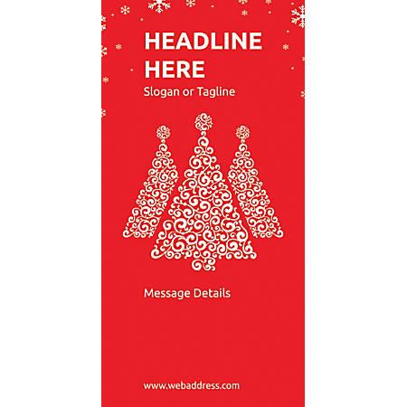 Custom Vertical Display Banner, Red Christmas
