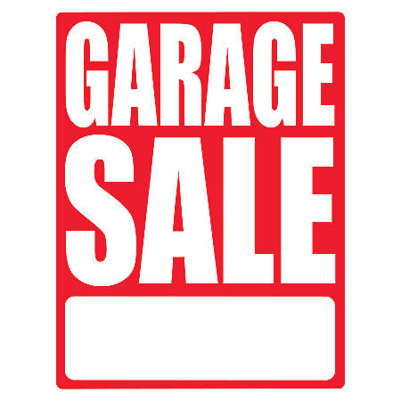 """Cosco Sign Vinyl Decals, Garage Sale, 8 1/2"""" x 11"""", Pack Of 3 With Price Stickers"""