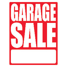 Cosco Sign Vinyl Decals Garage Sale