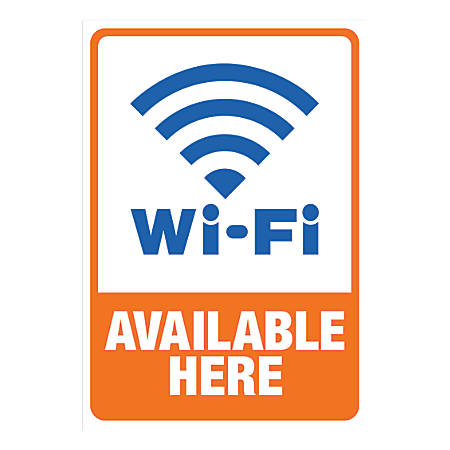 Cosco Sign Vinyl Decals, Wi-Fi Available Here, 5 1/4
