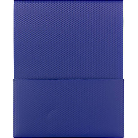 "Smead Organized Up® Poly Stackit® Folders - Letter - 8 1/2"" x 11"" Sheet Size - 100 Sheet Capacity - 1 Pocket(s) - Polypropylene - Dark Blue - 5 / Pack"