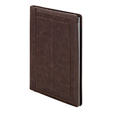 FORAY Distressed Padfolio Large Brown