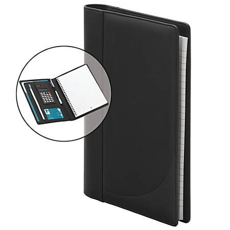 FORAY™ Small Personal Padfolio With Calculator , Black