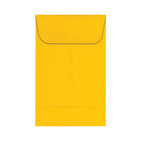 """LUX Coin Envelopes With Moisture Closure, #1, 2 1/4"""" x 3 1/2"""", Sunflower, Pack Of 500"""