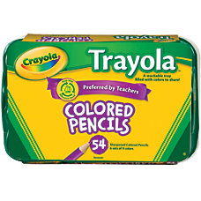 Crayola Trayola Color Pencils And Tray
