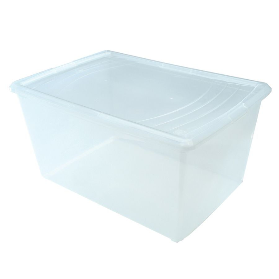 Office Depot Brand Plastic Storage Boxes 22 Quarts Clear Pack Of 5