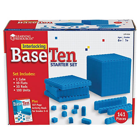 Learning Resources® Interlocking Base 10 Starter Set, Grades 1 - 9