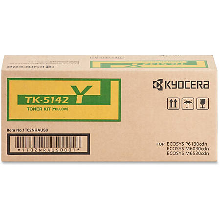 Kyocera® Original Toner Cartridge, Yellow, TK-5142Y