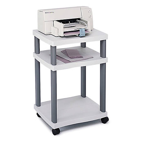 Safco® Wave Deskside Printer Stand, Gray