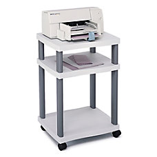 Safco Wave Deskside Printer Stand Gray