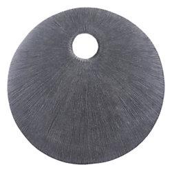 Zuo Modern Round Eye Plaque, Large, Dark Gray