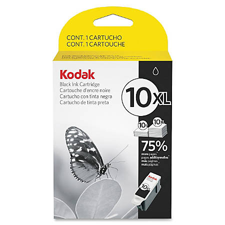 Kodak® Black Ink Cartridge, 10XL, High Yield
