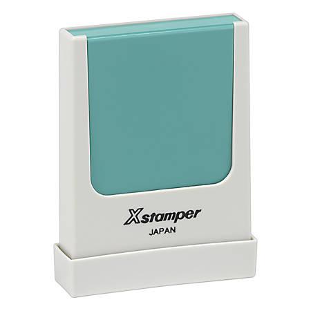 "Xstamper® Pre-Inked Small Rectangular Stamp, N37, 3/16"" x 1 9/16"" Impression"