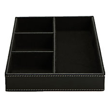 Mind Reader 4 Compartment Faux Leather