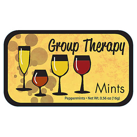 AmuseMints® Sugar-Free Mints, Group Therapy, 0.56 Oz, Pack Of 24