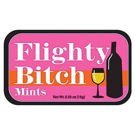 AmuseMints® Sugar-Free Mints, Flighty Bitch, 0.56 Oz, Pack Of 24