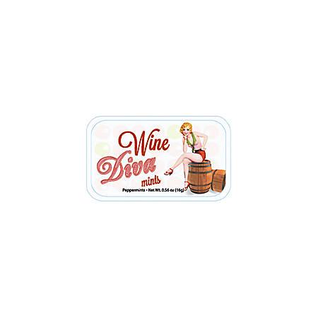AmuseMints® Sugar-Free Mints, Wine Diva, 0.56 Oz, Pack Of 24
