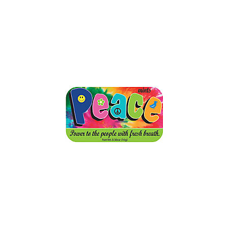 AmuseMints® Sugar-Free Mints, Peace, 0.56 Oz, Pack Of 24