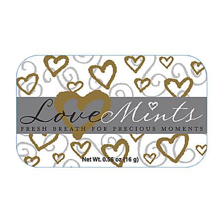 AmuseMints® Sugar-Free Mints, Love, 0.56 Oz, Pack Of 24