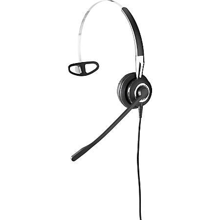 Jabra BIZ 2400 II QD Mono Headband, Ultra Noise Canceling, LS - Mono - Quick Disconnect - Wired - 300 Hz - 3.40 kHz - Over-the-head - Monaural - Supra-aural - Noise Cancelling Microphone