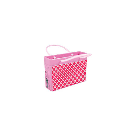 AmuseMints® Mint Candy Shopping Bag Tins, Pink Diamond, Pack Of 24