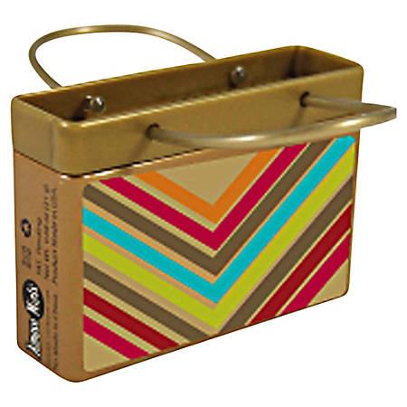 AmuseMints® Mint Candy Shopping Bag Tins, Gold V, 0.68 Oz, Pack Of 24