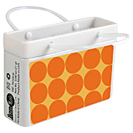 AmuseMints® Mint Candy Shopping Bag Tins, Orange Dots, 0.68 Oz, Pack Of 24