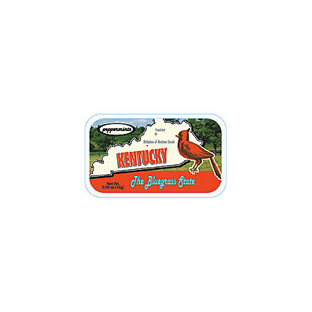 AmuseMints® Destination Mint Candy, Kentucky State Map, 0.56 Oz, Pack Of 24