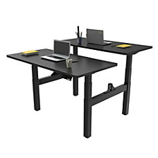 Loctek Height Adjustable Dual Bench Desk