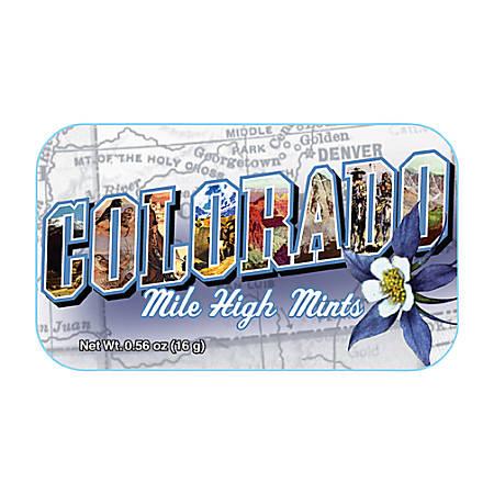 AmuseMints® Destination Mint Candy, Colorado Mile High, 0.56 Oz, Pack Of 24
