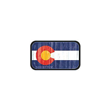 AmuseMints® Destination Mint Candy, Colorado Vintage Flag, 0.56 Oz, Pack Of 24