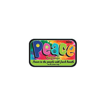 AmuseMints® Destination Mint Candy, California Peace, 0.56 Oz, Pack Of 24