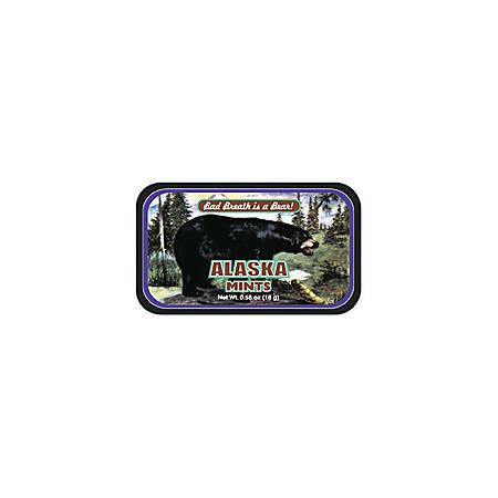 AmuseMints® Destination Mint Candy, Alaska Black Bear, Black, 0.56 Oz, Pack Of 24