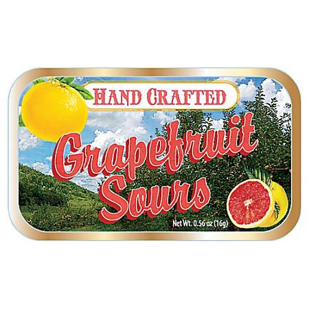 AmuseMints® Fruit Sours, Grapefruit, 0.56 Oz, Pack Of 24