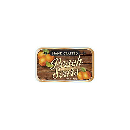 AmuseMints® Fruit Sours, Peach, 0.56 Oz, Pack Of 24