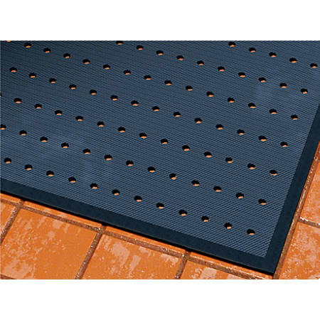 "The Andersen Company CompleteComfort Antimicrobial Floor Mat With Holes, 24"" x 36"", Black"