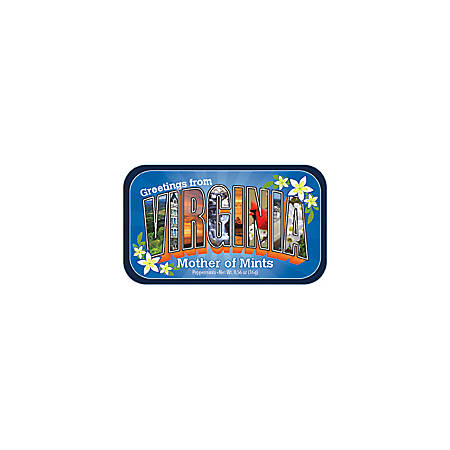 AmuseMints® Destination Mint Candy, Virginia Letters, 0.56 Oz, Pack Of 24