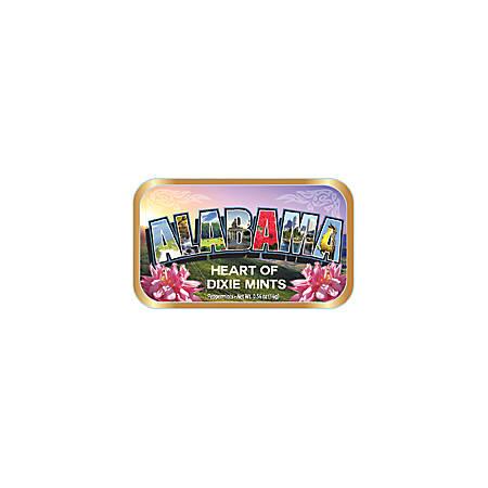 AmuseMints® Destination Mint Candy, Alabama Letters Flower, 0.56 Oz, Pack Of 24