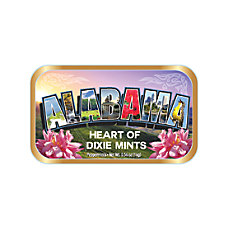 AmuseMints Destination Mint Candy Alabama Letters