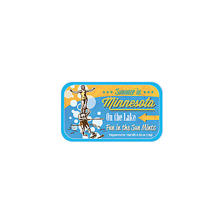 AmuseMints® Destination Mint Candy, Minnesota On the Lake, 0.56 Oz, Pack Of 24