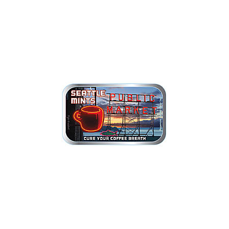 AmuseMints® Destination Mint Candy, Seattle Public Market, 0.56 Oz, Pack Of 24