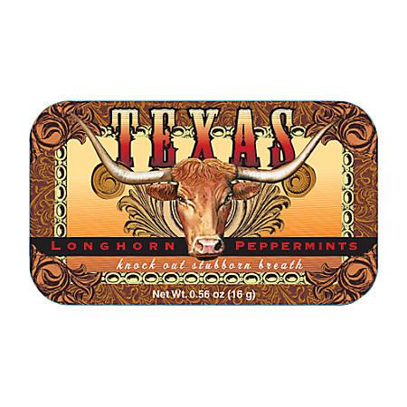 AmuseMints® Destination Mint Candy, Texas Longhorn, 0.56 Oz, Pack Of 24